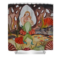 The Most Precious Treasure Shower Curtain by Virginia Coyle