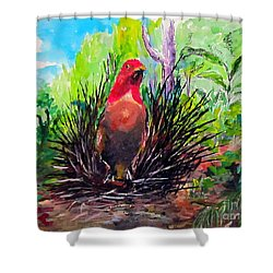 The Most Romantic Birds Shower Curtain