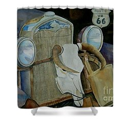 The Mother Road Shower Curtain