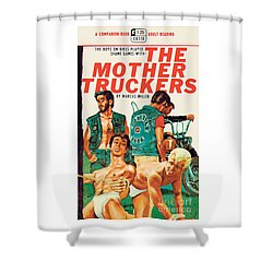 Shower Curtain featuring the painting The Mother Truckers by Unknown Artist