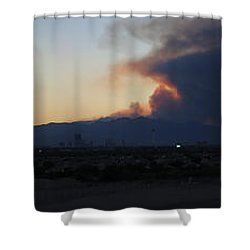 The Mount Charleston Fire Shower Curtain