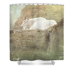 The Mountain Goat Shower Curtain