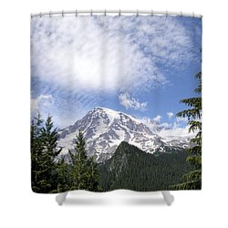 The Mountain  Mt Rainier  Washington Shower Curtain by Michael Bessler