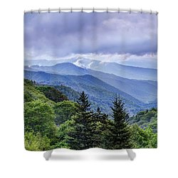 The Mountains Of Great Smoky Mountains National Park Shower Curtain