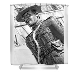 The Mountie Shower Curtain by Bob Pardue