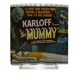 The Mummy 1929 Poster Boris Karloff Shower Curtain