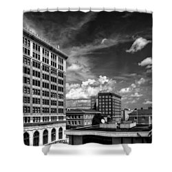 The Murchison Building In Black And White Shower Curtain