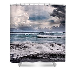 The Music Of Light Shower Curtain by Sharon Mau