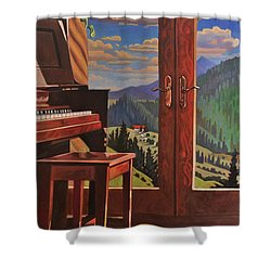 The Music Room Shower Curtain by Art West