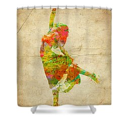 The Music Rushing Through Me Shower Curtain by Nikki Smith