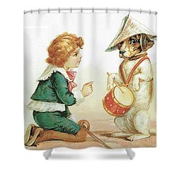 The Musical Pooch Shower Curtain