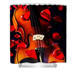 The Musical Rose Petals Shower Curtain