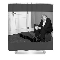The Musician Shower Curtain by Bob Pardue