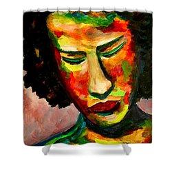 The Musician's Feelings Shower Curtain