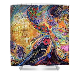 The Mysterious Visitor Shower Curtain by Elena Kotliarker