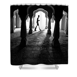 The Mystery Man Shower Curtain