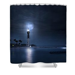 The Mystery Of Lighthouse Cove Shower Curtain