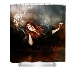 The Mystic Shower Curtain by Mary Hood