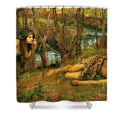 The Naiad Shower Curtain by John William Waterhouse