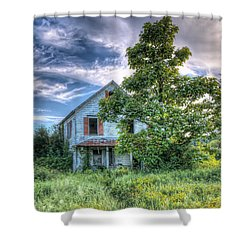 The Nathaniel White Farm House Shower Curtain