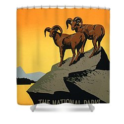 The National Parks Poster Shower Curtain