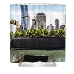 The National September Memorial Museum Shower Curtain by Perry Van Munster
