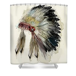 The Native Headdress Shower Curtain