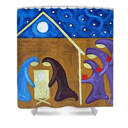 The Nativity Shower Curtain by Patrick J Murphy