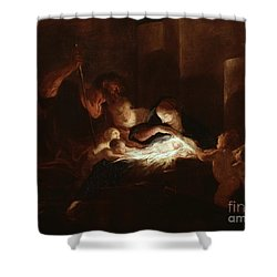 The Nativity Shower Curtain by Pierre Louis Cretey or Cretet