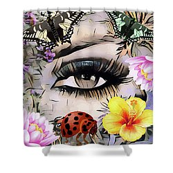 The Nature Girl Shower Curtain