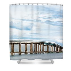 Shower Curtain featuring the photograph The Navarre Bridge by Shelby Young