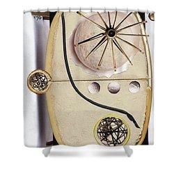 The Navigator Shower Curtain by Michal Mitak Mahgerefteh