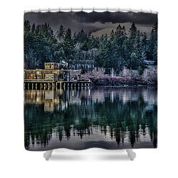 The Navy Base P1 Shower Curtain by Timothy Latta