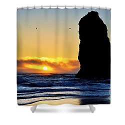 The Needles At Cannon Beach Shower Curtain