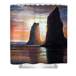 Shower Curtain featuring the painting The Needles by Chriss Pagani