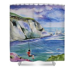 The Needles Isle Of Wight In England  Shower Curtain by Geeta Biswas