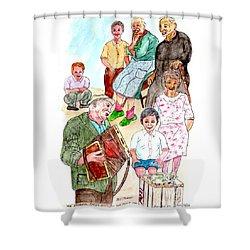 The Neighborhood Music Man Shower Curtain