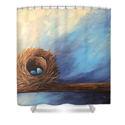 The Nest 2017 Shower Curtain by Torrie Smiley