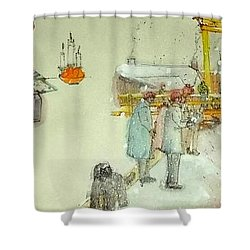 the Netherlands scroll Shower Curtain