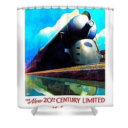 The New 20th Century Limited New York Central System 1939 Leslie Ragan Shower Curtain