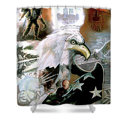 The New American Pride Shower Curtain by Todd Krasovetz