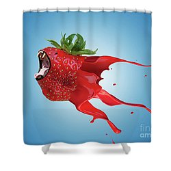Shower Curtain featuring the photograph The New Gmo Strawberry by Juli Scalzi