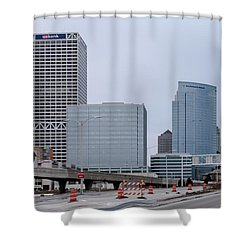 The New Milwaukee Skyline Shower Curtain by Randy Scherkenbach