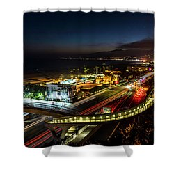 The New P C H Overpass - Night Shower Curtain