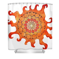 The New Sun Shower Curtain by Patricia Arroyo