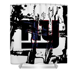 The New York Giants 1b Shower Curtain
