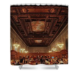 Shower Curtain featuring the photograph The New York Public Library by Jessica Jenney
