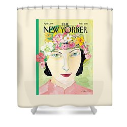 The New Yorker Cover - April 8th, 1996 Shower Curtain by Maira Kalman