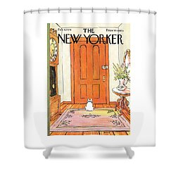 The Long Wait Shower Curtain