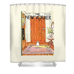 The New Yorker Cover - February 4th, 1974 Shower Curtain